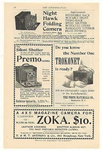 Night Hawk Premo Trokonet Zoka Camera (1894)