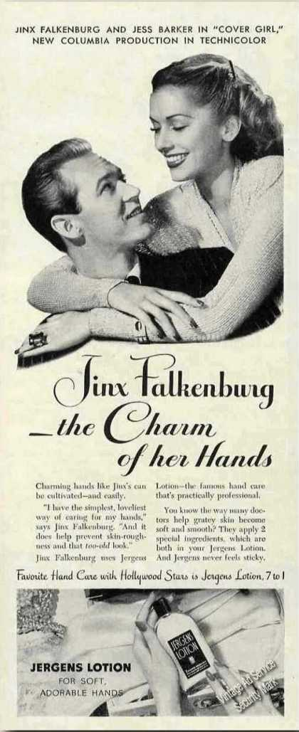 Jinx Falkenburg Photo Jergens Lotion (1944)