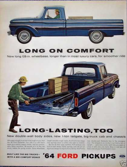 Ford Styleside Pick Up Construction Worker Load (1964)