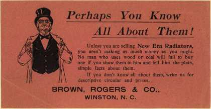 Brown, Rogers & Co.'s New Era Radiators – Perhaps You Know All About Them