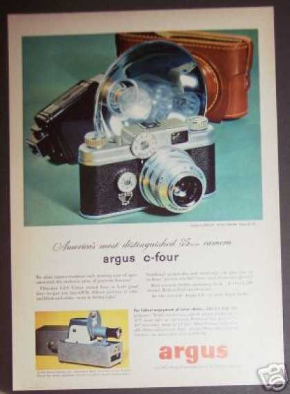 Argus C-4 Four 35mm Camera Photo (1952)