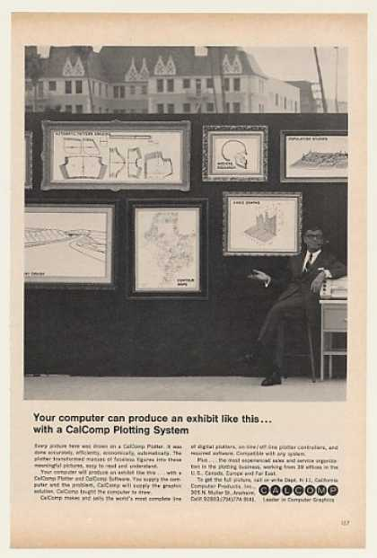 CalComp Computer Plotter System Art Exhibit (1968)
