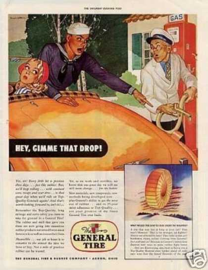 General Tire Ad Robert Reid Art (1943)