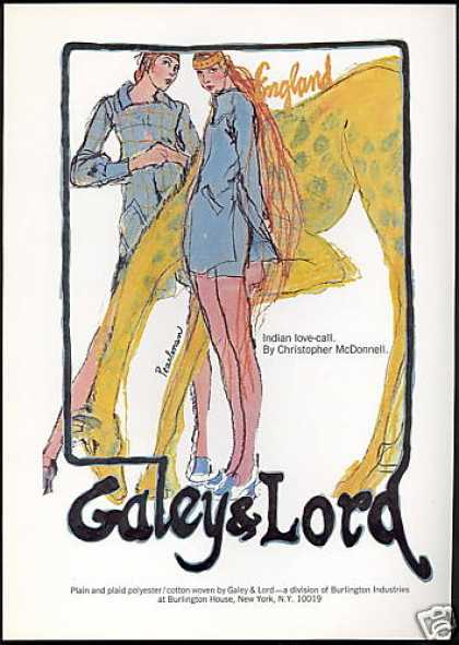 Galey & Lord Fashion England Pearlman Art (1969)