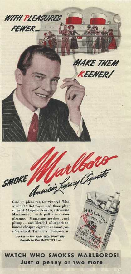Marlboro Luxury Cigarette (1944)