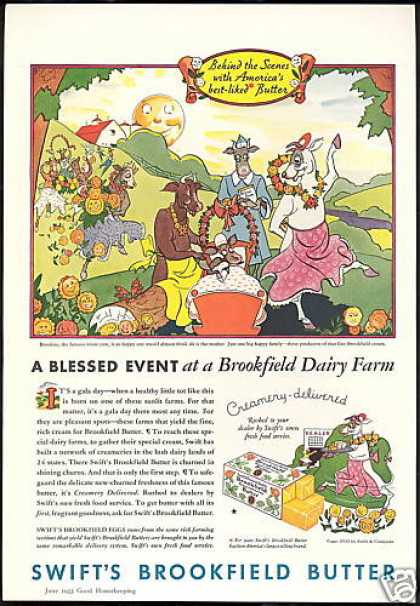 Swift's Brookfield Butter Dairy Farm Cow (1933)
