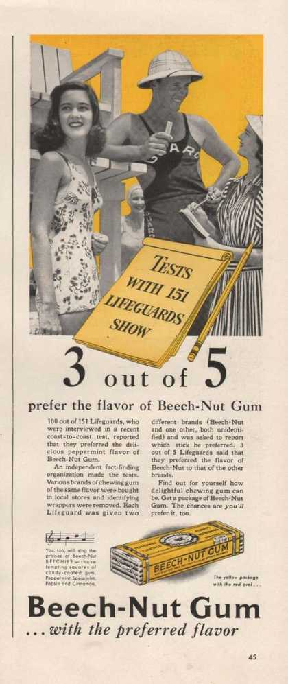 Beech Nut Gum Preferred Flavor (1941)