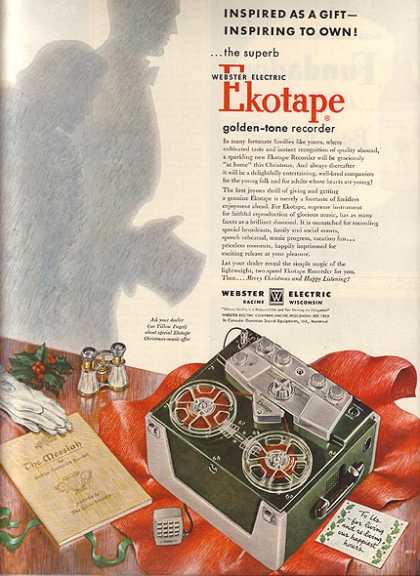 Webster's Ekotape Golden-Tone Recorder (1954)