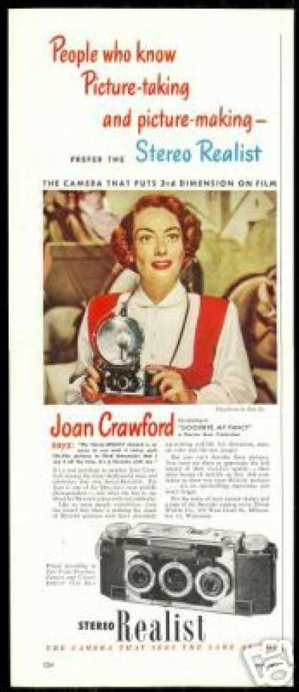 Joan Crawford Photo Stereo Realist Camera (1951)