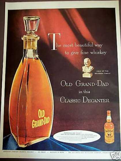 Old Grand Dad Bourbon Gift Decanter (1954)