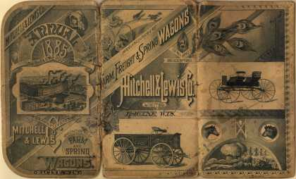 Mitchell, Lewis & Co.'s Farm and Spring Wagons – Annual 1885 For the Farm & Household With Compliments of Mitchell & Lewis (1885)