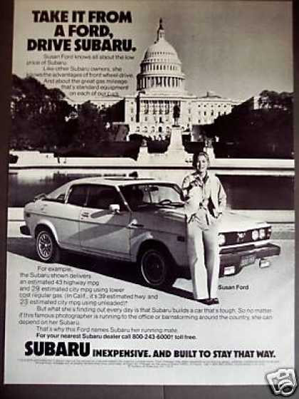 Photographer Susan Ford Photo Subaru Car (1979)