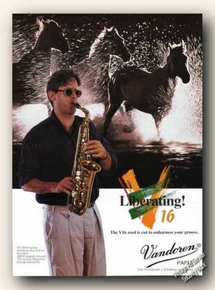 Tim Berne Photo Vandoren V16 Reeds Promo (1994)