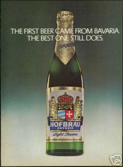 Hofbrau Bavaria Beer First & Best Photo (1977)