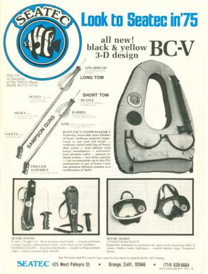Seatec Masks Knives Sampson Guns Buoyancy (1975)