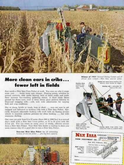 New Idea Corn Picker/oliver Tractor Farm (1952)