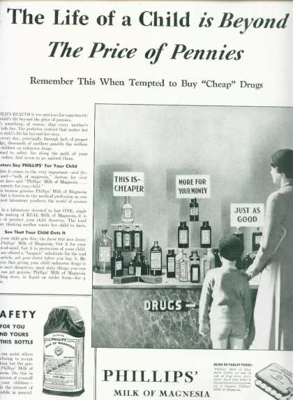 Phillips Milk of Magnesia Laxative (1933)