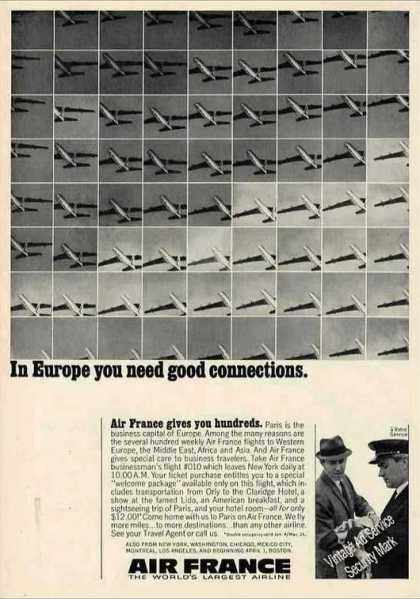 Air France In Europe You Need Good Connections (1966)