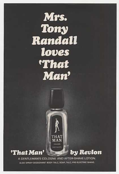 Mrs Tony Randall Loves Revlon That Man Cologne (1966)