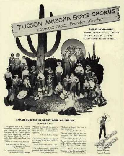 Tucson Arizona Boys Chorus Photo (1956)