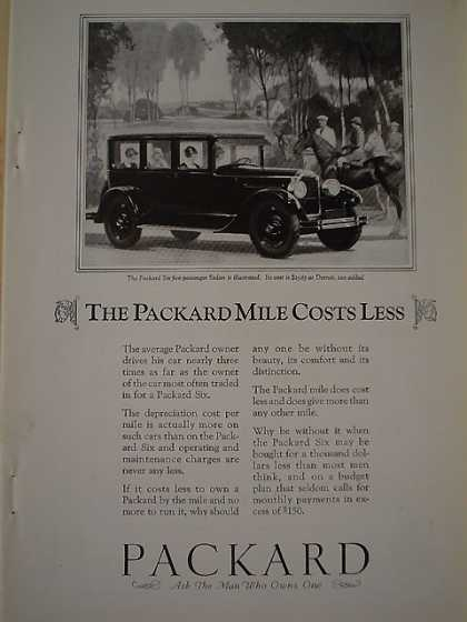 Packard Mile Costs Less AND Great Northern Railroad (1926)