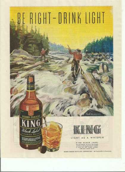 King Light As a Whisper Whisky (1944)