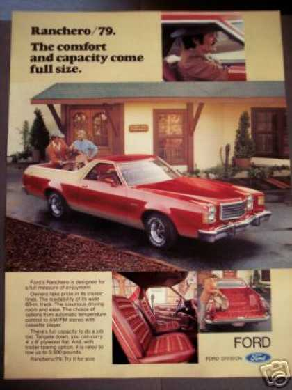 Ford Ranchero Pick-up Car Photo (1979)