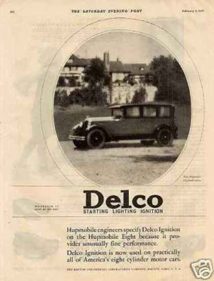 Delco Ad Hupmobile Sedan (1926)