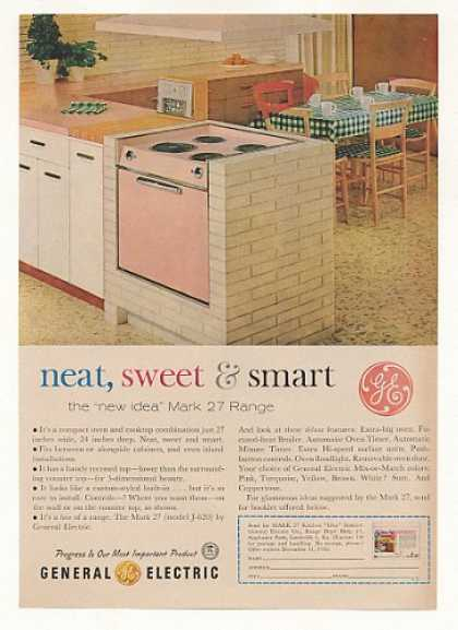 Pink GE General Electric Mark 27 Range (1960)