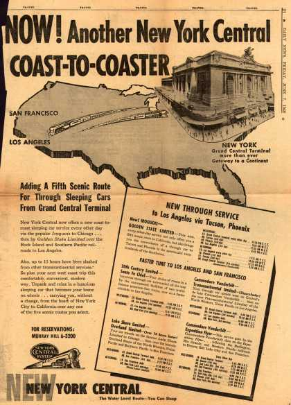 New York Central System's New York Central – Now! Another New York Central Coast-To-Coaster (1946)