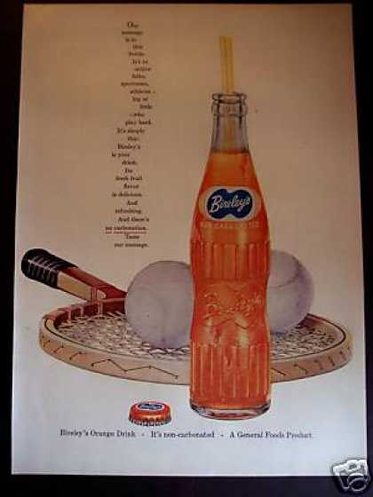 Bireley's Orange Non-carbonated Rare Soda (1955)