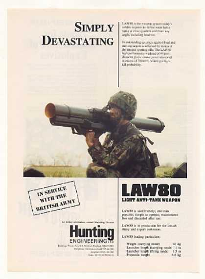 Hunting LAW 80 Light Anti-Tank Weapon (1990)