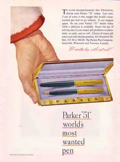Parker Pen Christmas – Parker 51 Pen Set (1947)