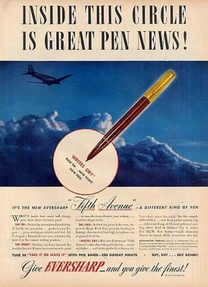 "Eversharp Pen Ad ""Inside This Circle... (1943)"