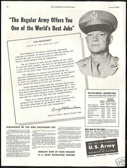 Dwight D. Eisenhower Photo US Army Recruiting (1946)
