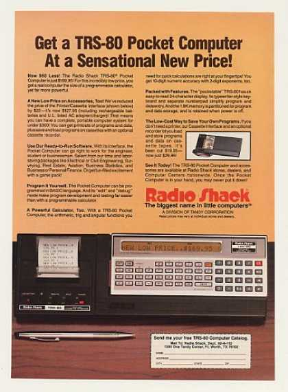Radio Shack TRS-80 Pocket Computer (1982)