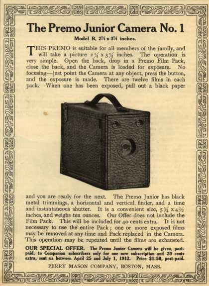 Kodak's Premo Jr. Model B – The Premo Junior Camera No. 1 (1912)