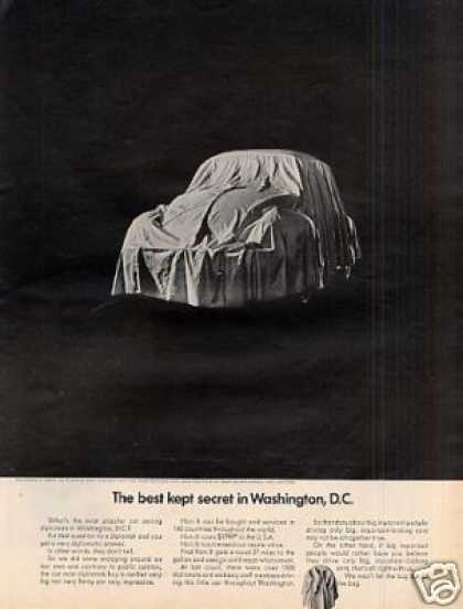"Volkswagen Beetle Car Ad ""The Best Kept Secret... (1968)"