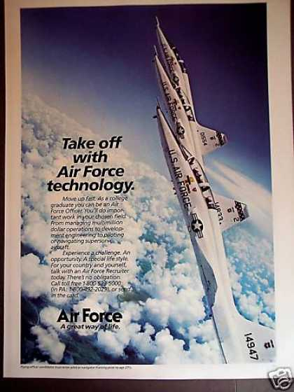 Air Force Jets Above the Clouds Recruiting (1981)