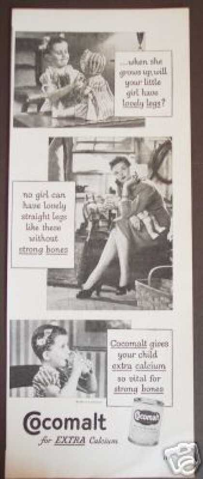 Cocomalt for Strong Bones Lovely Legs Photo (1947)