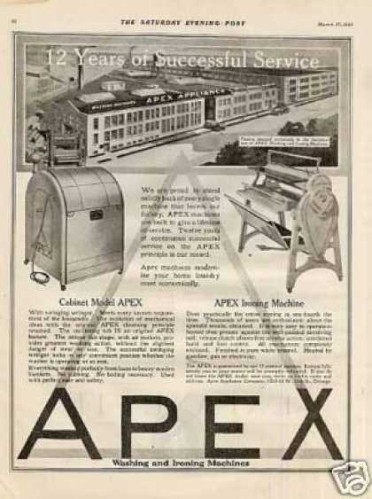 Apex Washer & Ironing Machine (1920)