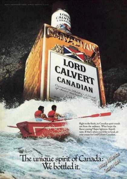 Lord Calvert Unique Spirit of Canada Bottled (1980)