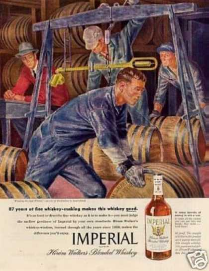Imperial Whiskey Ad Joseph Hirsch Art (1945)