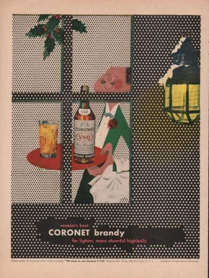 Seasons Best Coronet Brandy (1949)