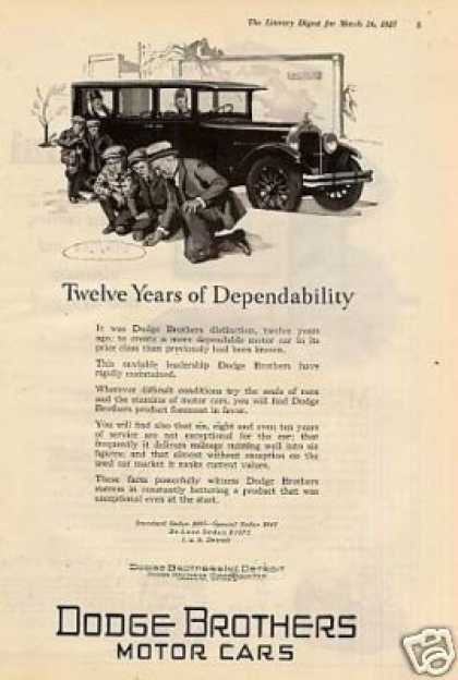 "Dodge Brothers Car Ad ""Twelve Years Of... (1926)"