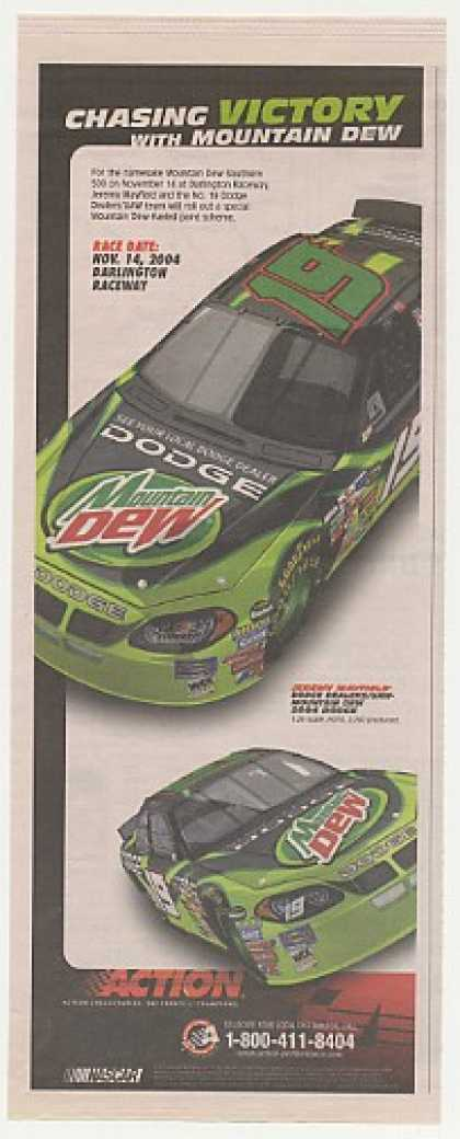 '04 NASCAR Mountain Dew Jeremy Mayfield Action (2004)