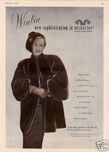 Wintra Bonmouton Fur Coat (1946)
