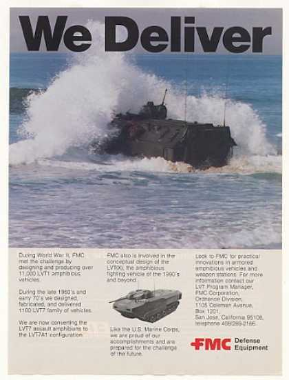 FMC LVT7A1 Amphibious Assault Vehicle Photo (1982)