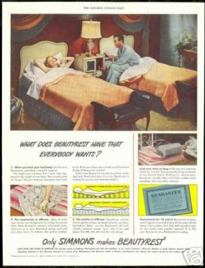 Simmons Beautyrest Mattress Vintage Photo (1948)