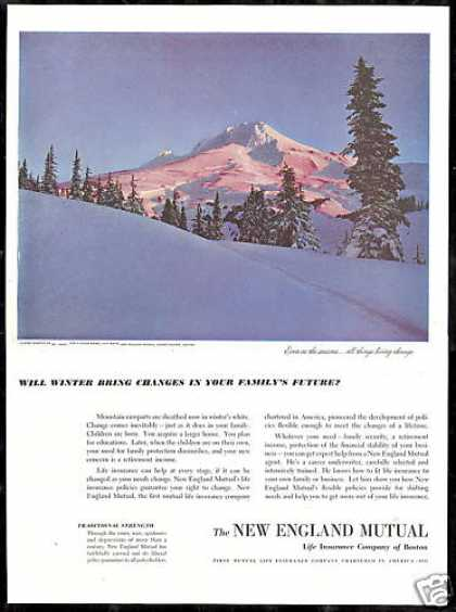 Mt Mount Hood Photo New England Insurance (1950)